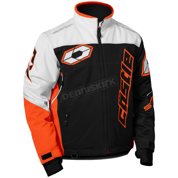Castle X White/Black/Orange Strike Jacket - 70-6858