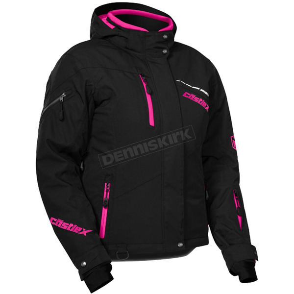 Castle X Women's Black/Process Magenta Powder Jacket - 71-1819