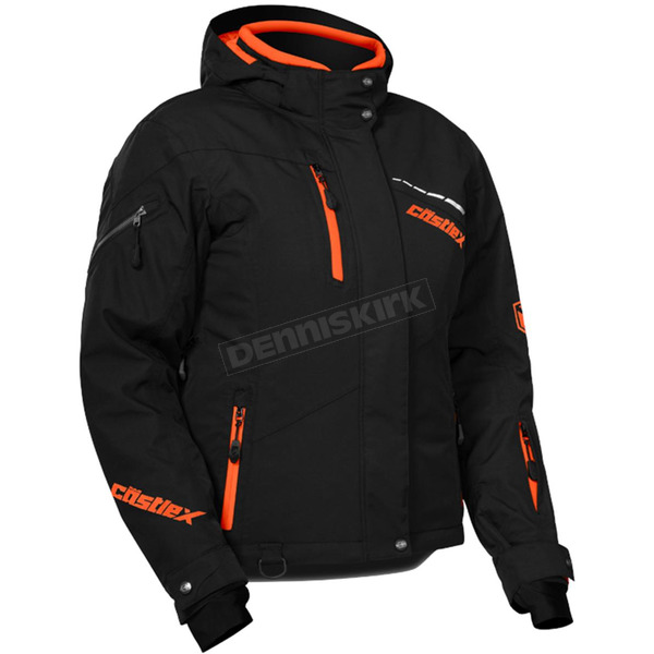 Castle X Women's Black/Orange Powder Jacket - 71-1858