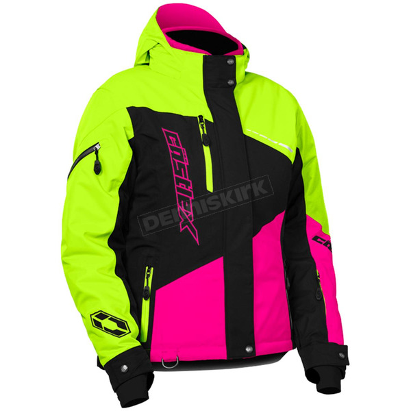 Castle X Women's Pink Glo/Hi-Vis Powder Jacket - 71-1886