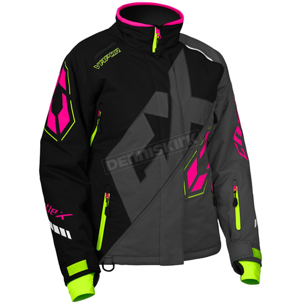 Castle X Women's Black/Dark Gray/Pink Glo Vapor Jacket - 71-1969