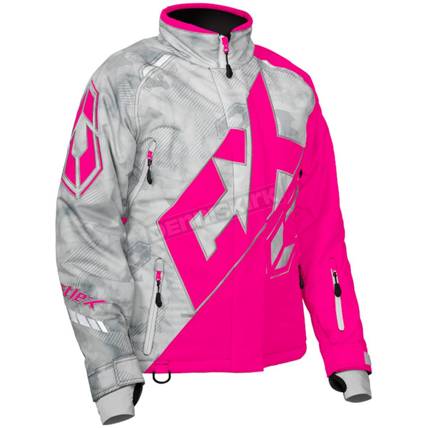 Castle X Women's Alpha Gray/Pink Glo Vapor Jacket - 71-1988
