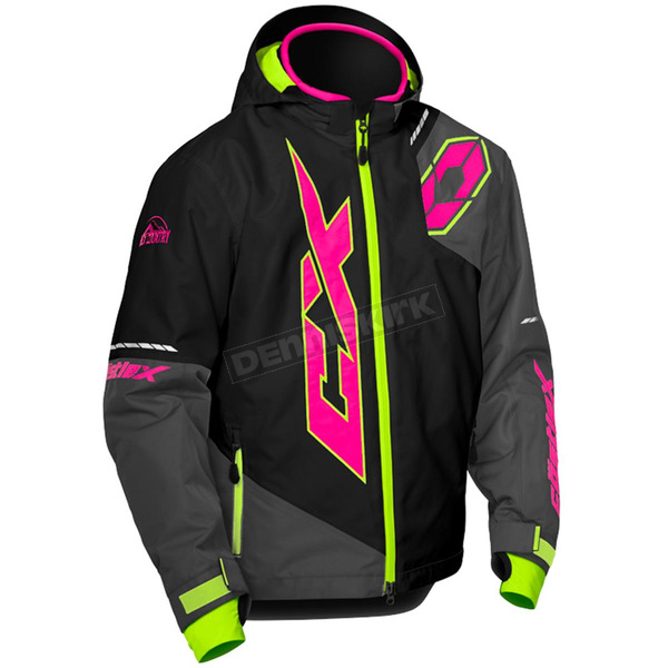 Castle X Youth Black/Pink Glo/Hi-vis Stance Jacket - 72-6364