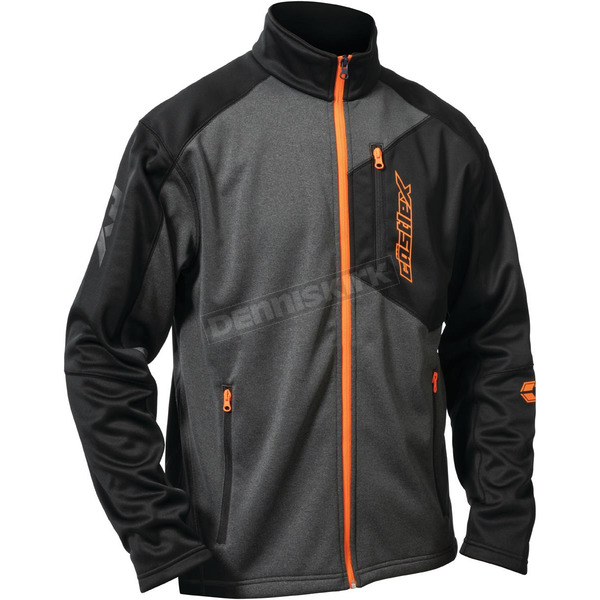 Castle X Black/Gray/Orange Fusion G2 Mid-Layer Jacket - 78-1359