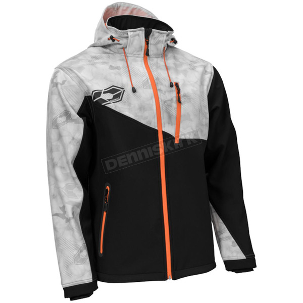 Castle X Alpha Gray/Black/Orange Barrier G2 Tri-Lam Jacket - 78-3059T