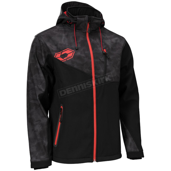 Castle X Alpha Black/Black/Red Barrier G2 Tri-Lam Jacket - 78-3079T