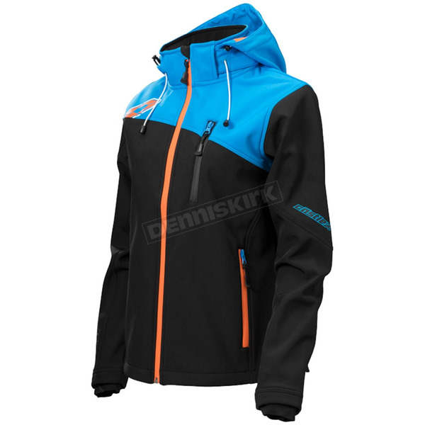 Castle X Women's Black/Blue/Orange Barrier G2 Tri-Lam Jacket - 78-4022