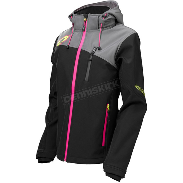 Castle X Women's Black/Magenta Barrier G2 Tri-Lam Jacket - 78-4084