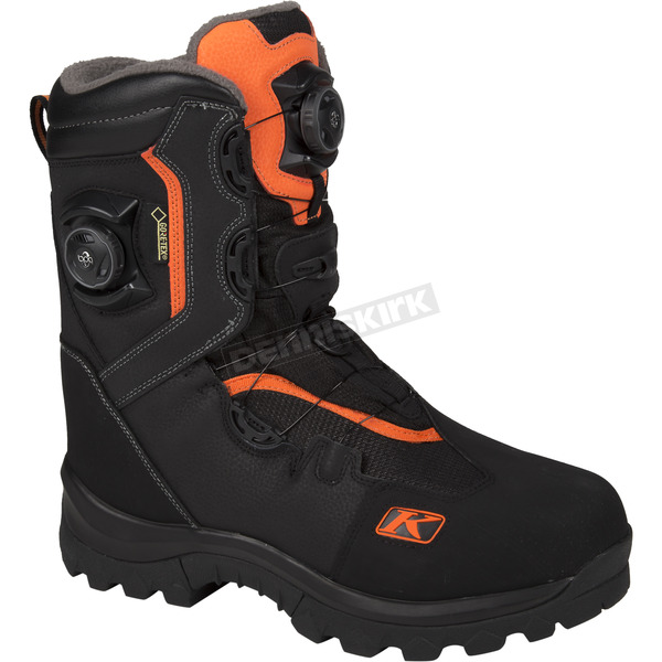 Klim Gray/Orange Adrenaline GTX Boa Boots - 3107-000-011-400