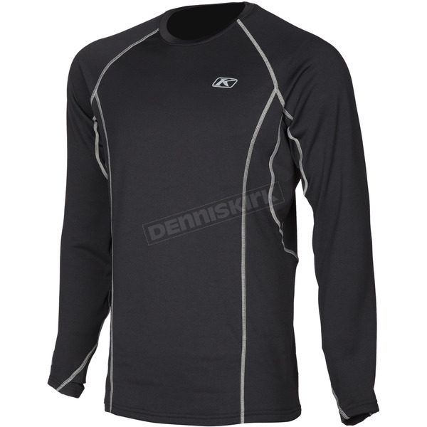 Klim Black Aggressor 2.0 Base Layer Shirt - 3198-002-160-000