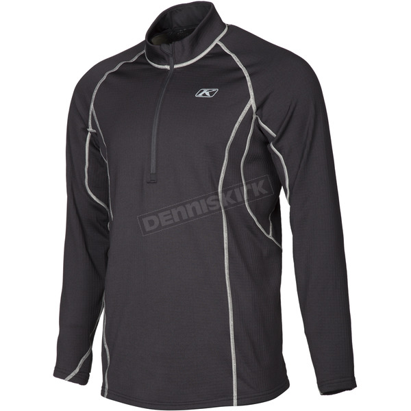 Klim Black Aggressor 3.0 1/4 Zip Shirt - 3293-002-120-000