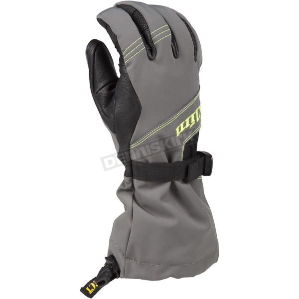 Klim Gray/Hi-Vis Sawtelle Gloves - 3334-000-140-500