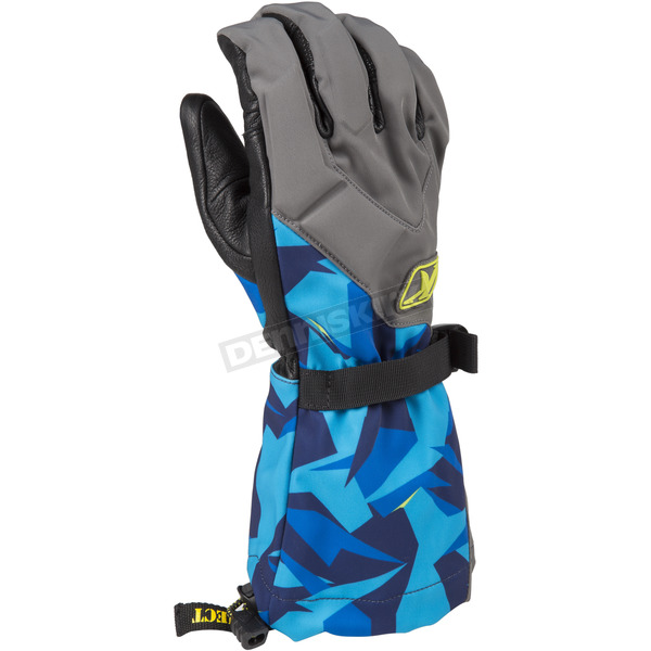Klim Camo Blue Togwotee Gloves - 3337-004-140-320