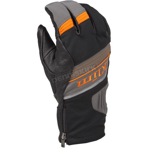Klim Dark Gray/Orange PowerXross Gloves - 3438-005-130-400