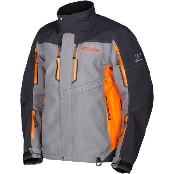 Klim Gray/Orange Valdez Parka - 3570-007-120-400