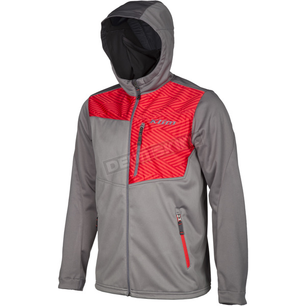Klim Red/Gray Transition Hoody - 3785-000-160-100