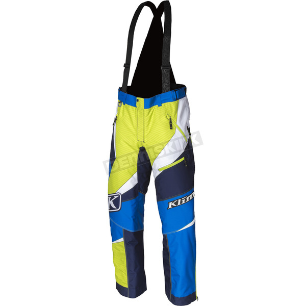 Klim Blue/Green Kaos Pants-Bibs - 3804-000-150-200