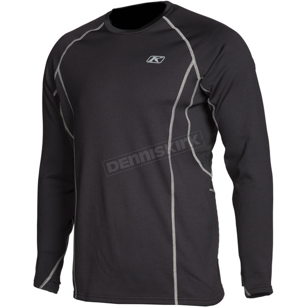 Klim Black Aggressor 3.0 Base Layer Shirt - 3861-000-130-000