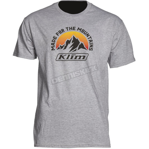 Klim Light Gray Mountain Made T-Shirt - 3950-000-160-630