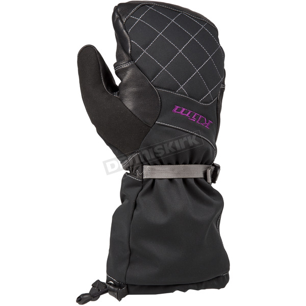 Klim Women's Black/Purple Allure Mittens - 4086-001-130-790