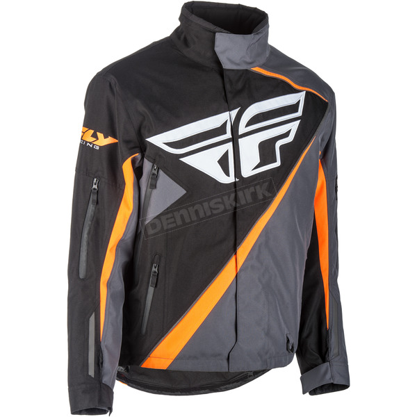 Fly Racing Black/Orange SNX Jacket - 470-40703X