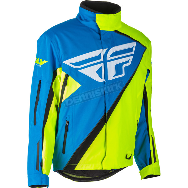 Fly Racing Blue/Hi-Vis SNX Jacket - 470-4079S