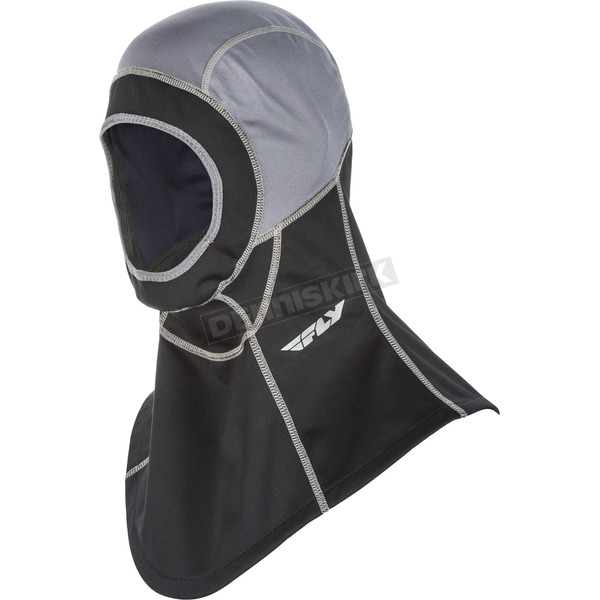 Fly Racing Grey/Black Ignitor Open Face Balaclava - 48-1085M