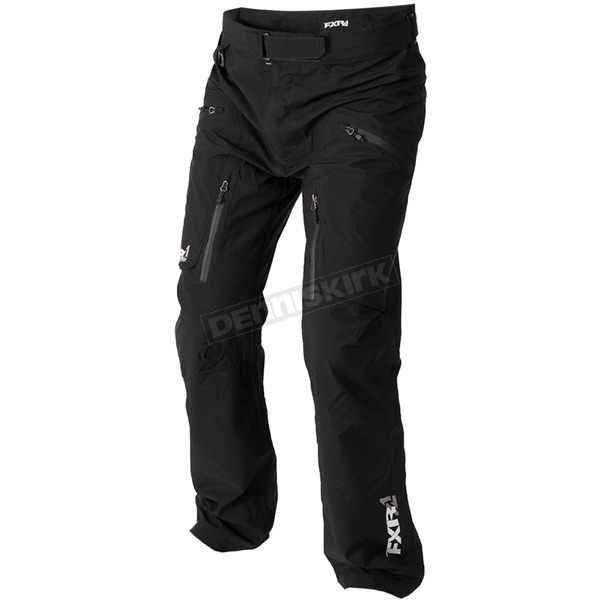 FXR Racing Black Convoy Tri-Laminate Waist Pants - 172101-1000-16