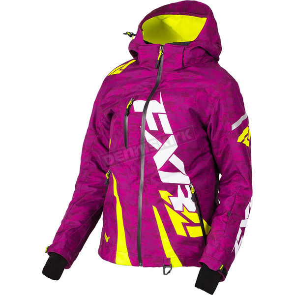 FXR Racing Women's Wineberry Digi/Hi-Vis Boost Jacket - 170204-8665-04