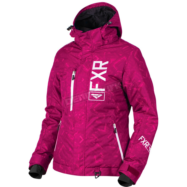 FXR Racing Women's Wineberry Track/White Fresh Jacket - 180206-8501-08