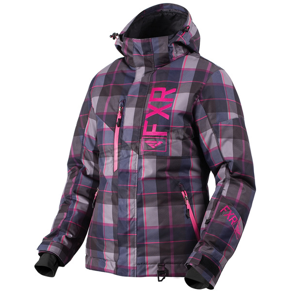 FXR Racing Women's Wineberry/Fuchsia Plaid Fresh Jacket - 180206-8591-10