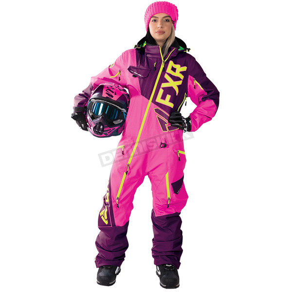 FXR Racing Women's Wineberry/Electric Pink/Hi-Vis Ranger Instinct Lite Monosuit - 182903-8594-10