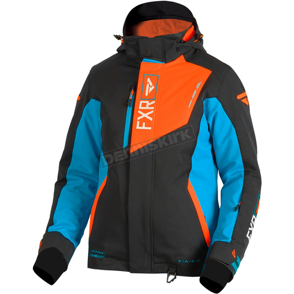 FXR Racing Women's Black/Aqua/Electric Tangerine Renegade Jacket - 180219-5035-14