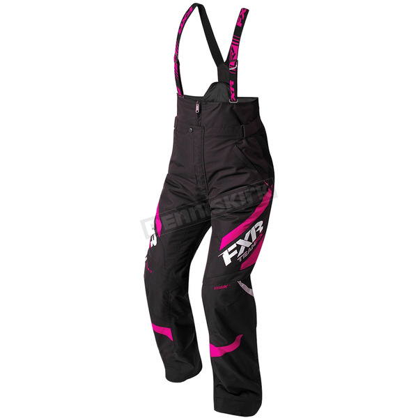 FXR Racing Women's Black/Fuchsia Team Pants - 180301-1090-14