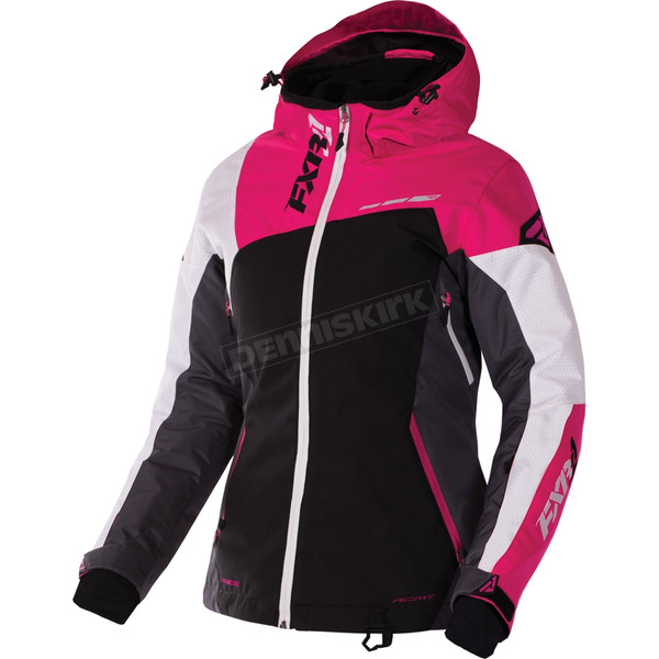 FXR Racing Women's Black/Charcoal/Fuchsia/White Tri Vertical Edge Jacket - 170211-1008-06