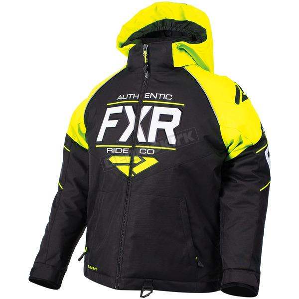 FXR Racing Child's Black/Hi-Vis/White Clutch Jacket - 180411-1065-08