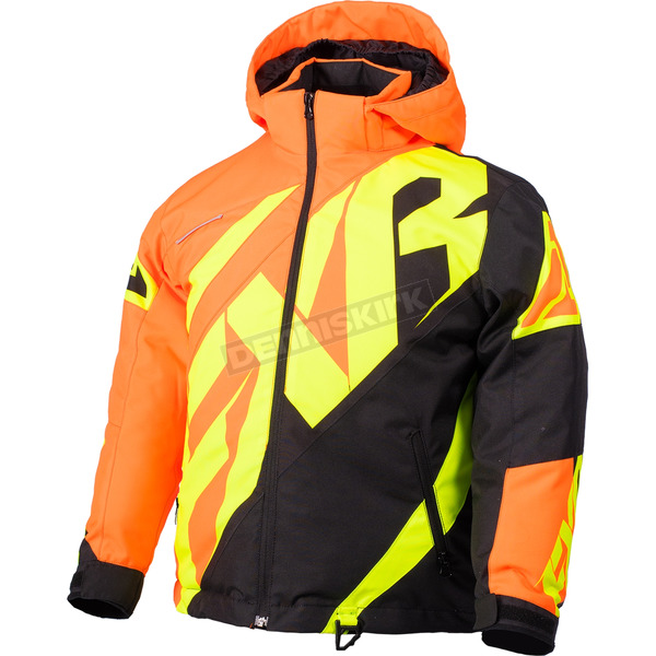 FXR Racing Youth Orange/Black/Hi-Vis  CX Jacket - 180402-3010-12