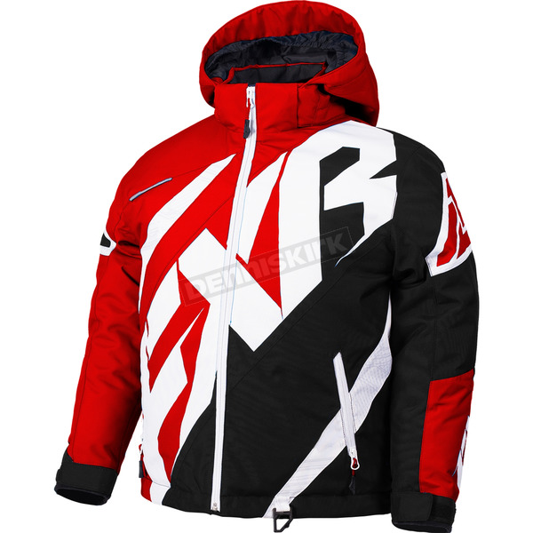 FXR Racing Child's Red/Black/White Weave CX Jacket - 180415-2010-02