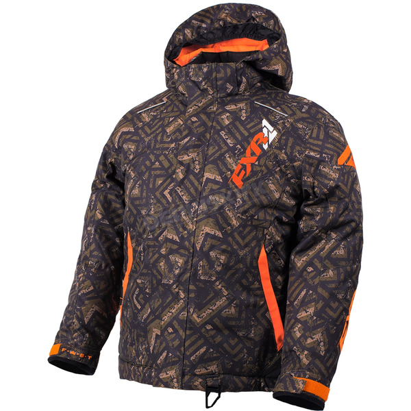 FXR Racing Youth Army Track/Orange Squadron Jacket - 180400-3010-16