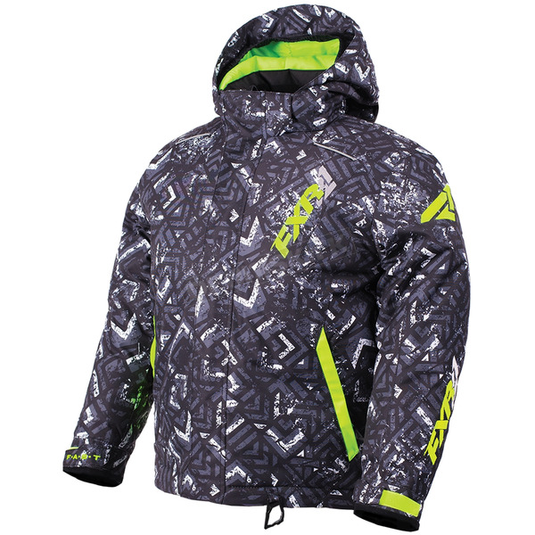 FXR Racing Child's Char White Track/Lime Squadron Jacket - 180403-9010-02