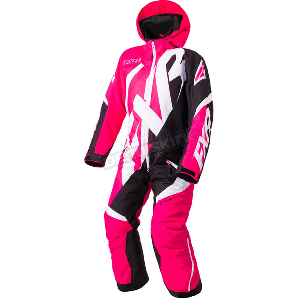 FXR Racing Child's Fuchsia/Black/White CX Monosuit - 183000-9010-02