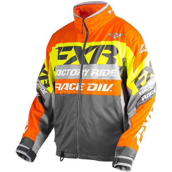 FXR Racing Charcoal/Orange/Hi-Vis Cold Cross Race Ready Jacket - 180032-0830-13