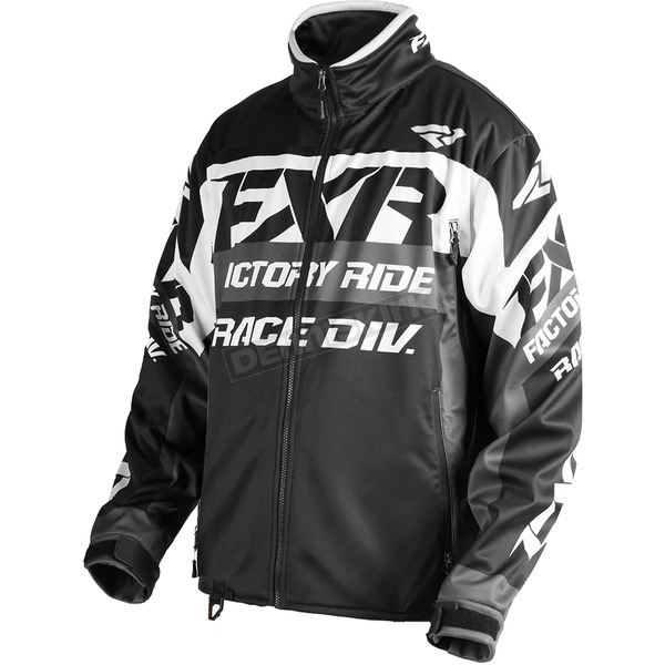 FXR Racing Black/White/Charcoal Cold Cross Race Ready Jacket - 180032-1001-13
