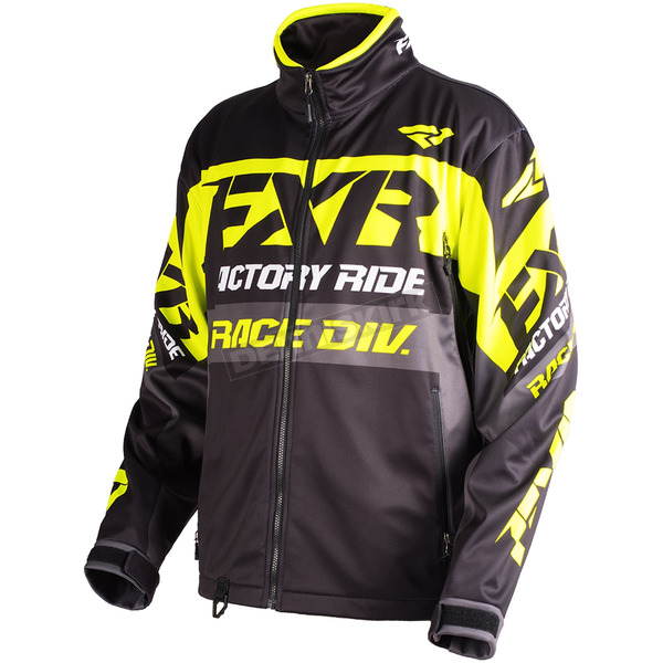FXR Racing Black/Hi-Vis/Charcoal Cold Cross Race Ready Jacket - 180032-1065-16