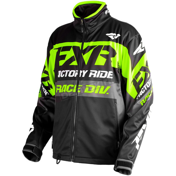 FXR Racing Black/Lime/Charcoal Cold Cross Race Ready Jacket - 180032-1070-13