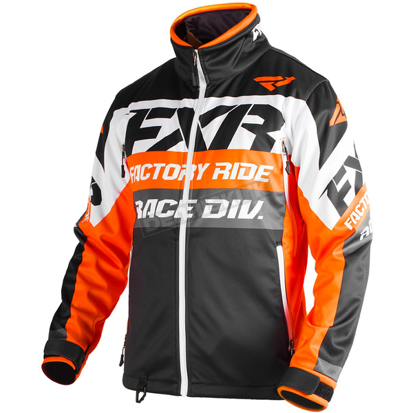 FXR Racing Orange/Black/White Cold Cross Race Ready Jacket - 180032-3010-19