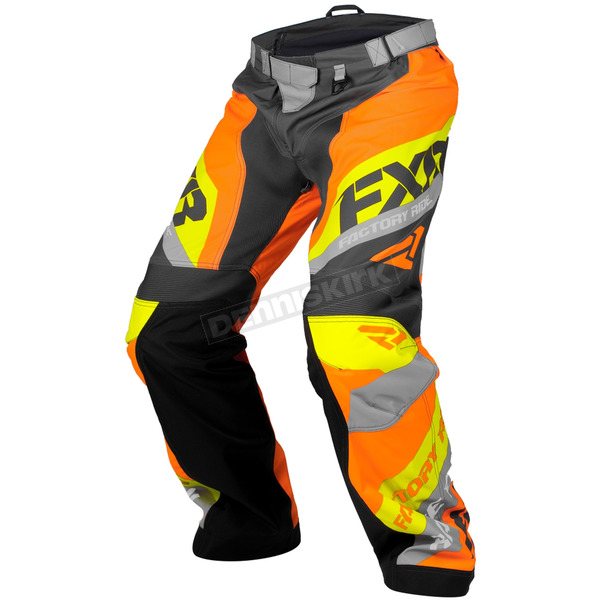 FXR Racing Charcoal/Orange/Hi-Vis Cold Cross Race Ready Pants - 180115-0830-19