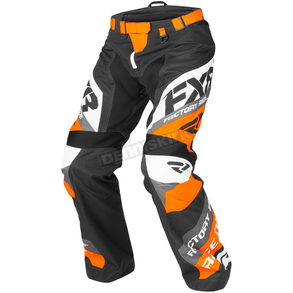 FXR Racing Orange/Black/White Cold Cross Race Ready Pants - 180115-3010-10
