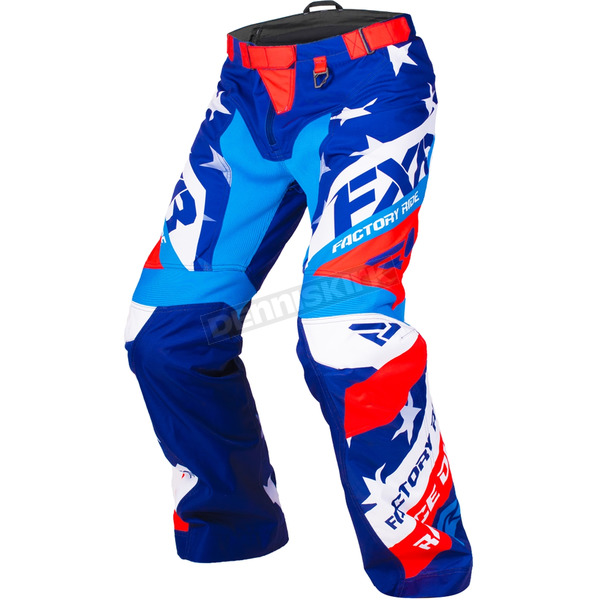 FXR Racing Kamm Le Stars and Stripes Cold Cross Race Ready Pants - 180115-4523-16