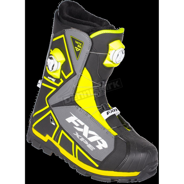 FXR Racing Black/Hi-Vis Tactic Dual Zone Boots - 180700-1065-40